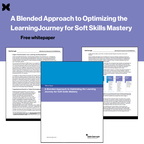 A Blended Approach to Optimizing the Learning Journey